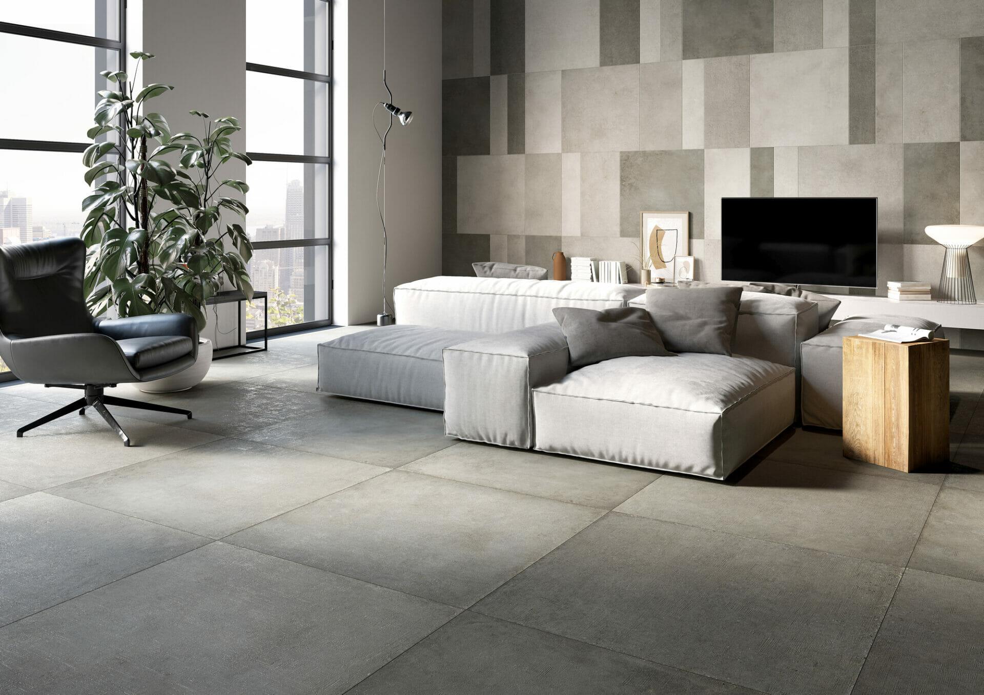 Industry Grey Room setting