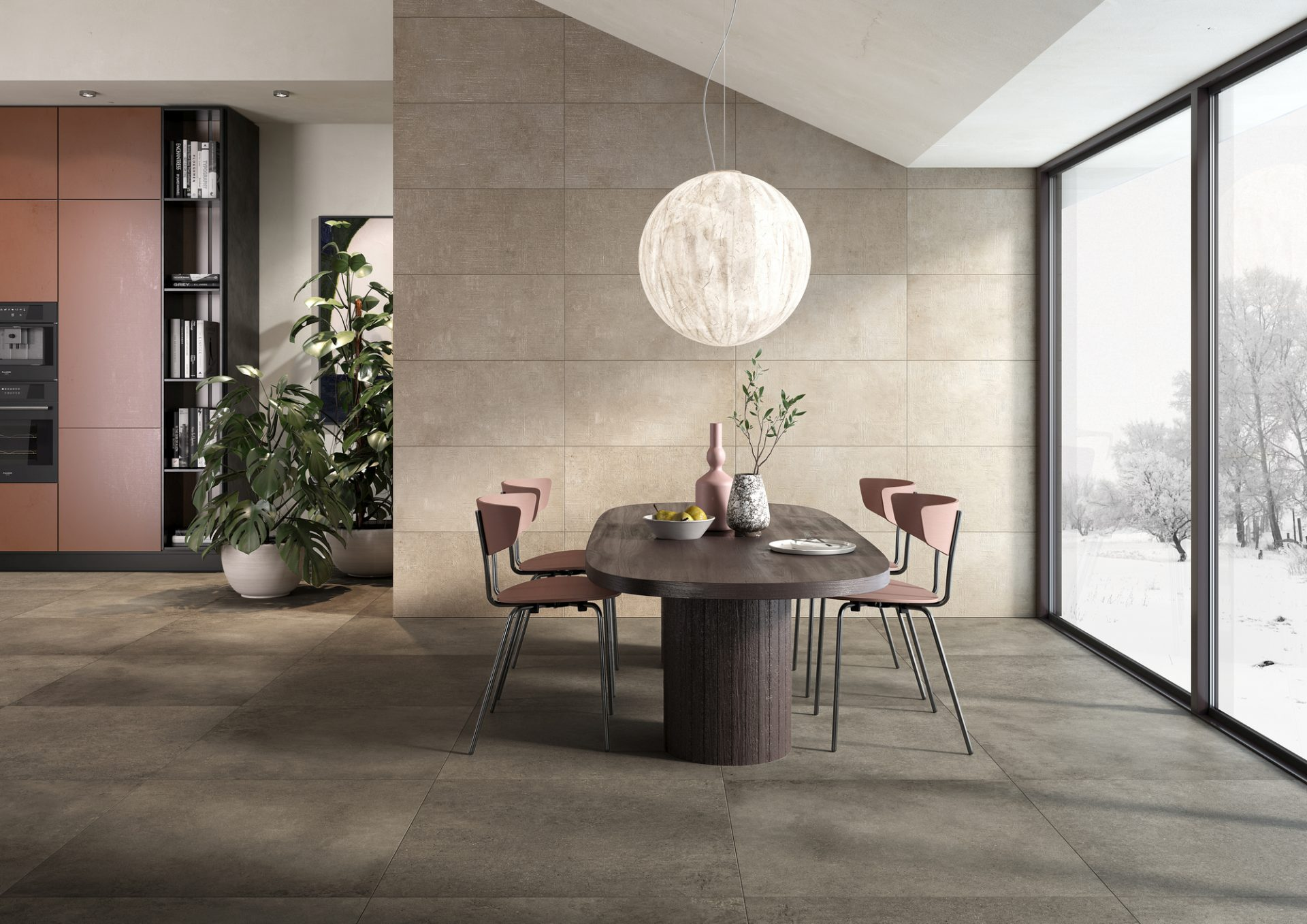 Industry Taupe room setting